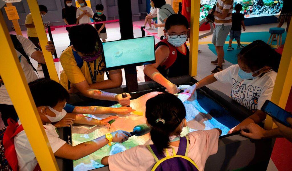 Elèves du primaire en Chine