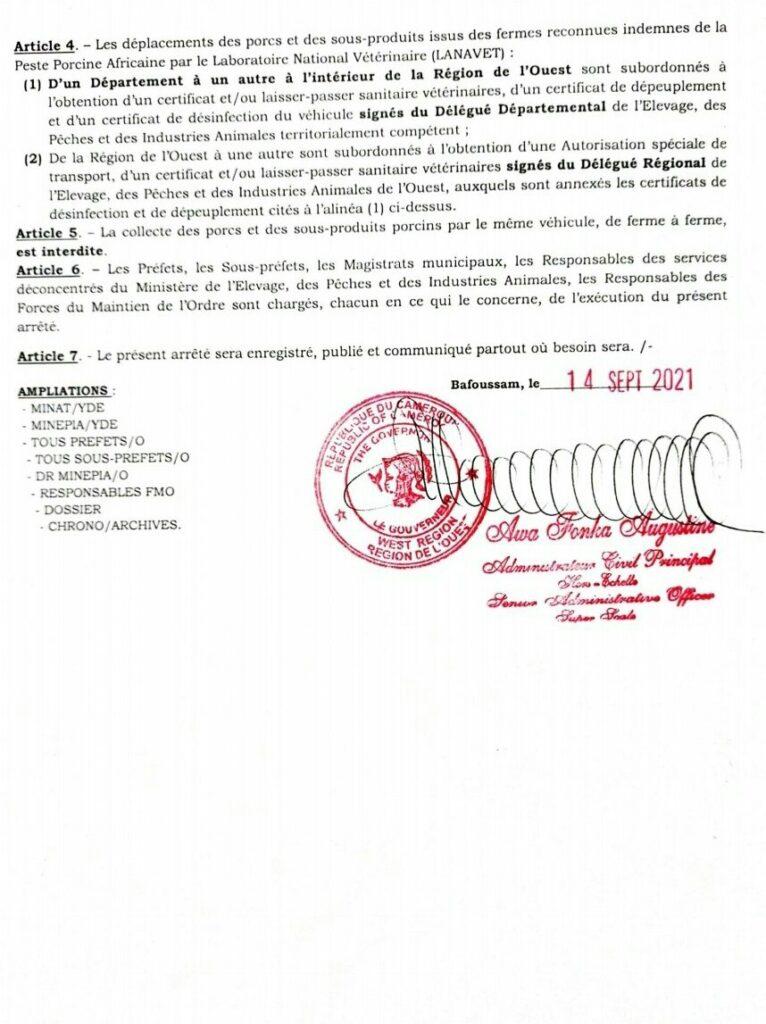 Arrêté régional 2
